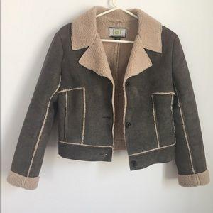 Vintage suede/fleece coat